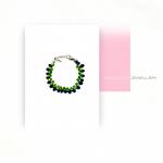 Color Drops blue-green armband