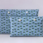 Etui tas blue broccoli groot