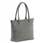 Trendy grote handtas - licht grijs