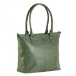 Trendy grote handtas - olijfgroen