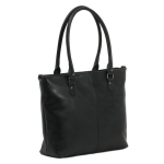 Trendy grote handtas - zwart