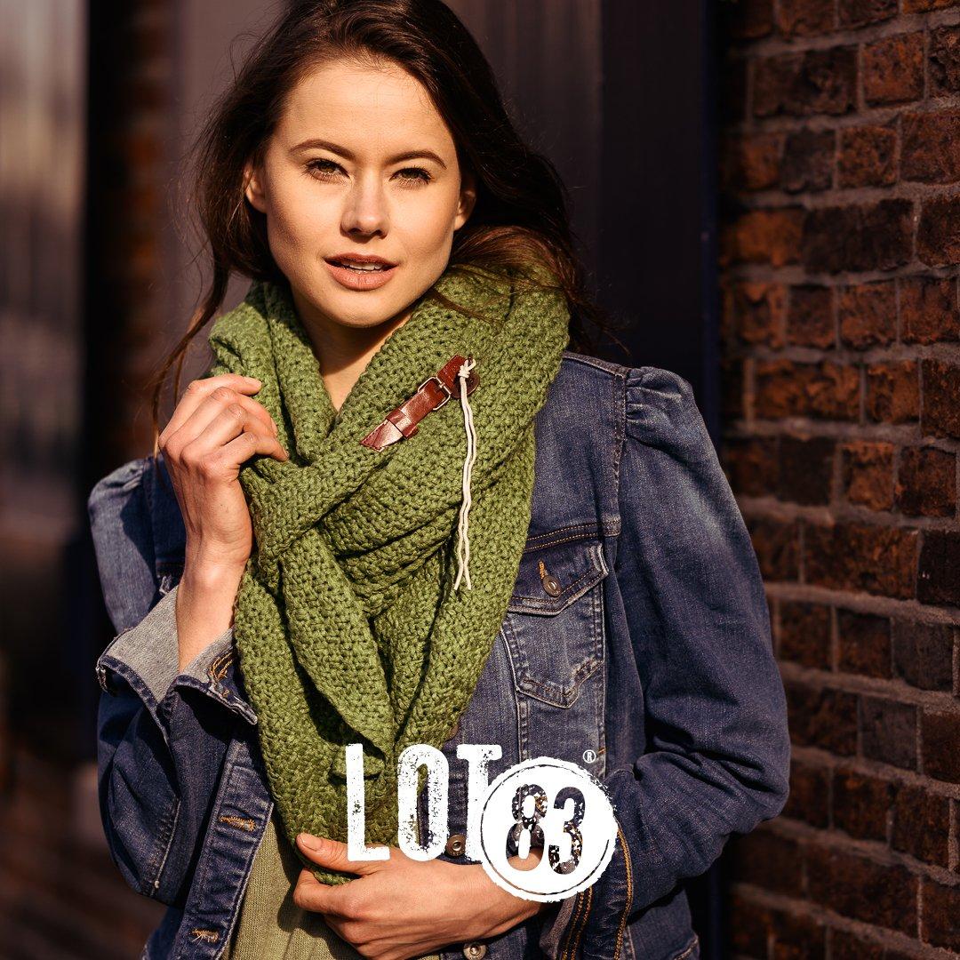 sjaal Lot83 groen dame