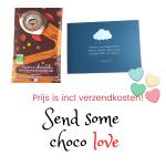 Geef een persoonlijke choco hug cadeau - Puur met gekarimelliseerde hazelnoten