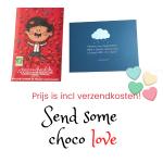 Geef een persoonlijke choco hug cadeau - Puur met noten melange
