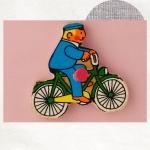 Mannetje op fiets magneet