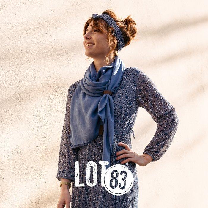 sjaal Lot83- jeans blauw